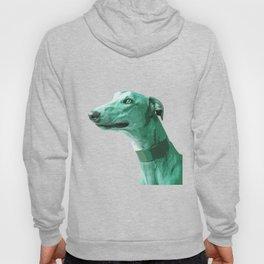 Green Greyhound. Pop Art portrait. Hoody