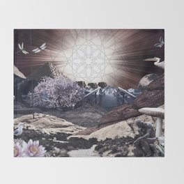 CREATURE OF THE UNIVERSE Throw Blanket