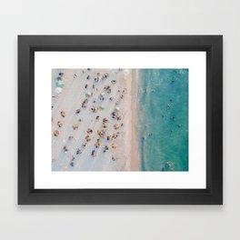 summer beach v Framed Art Print