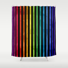 BLACK + RAINBOW Shower Curtain
