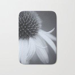 Black and White Coneflower Bath Mat