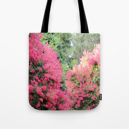 Surrounded by Pink Flowers Tote Bag
