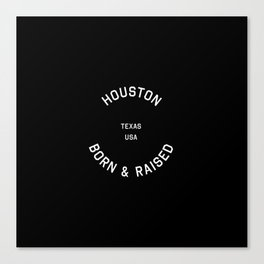 Houston - TX, USA (Badge) Canvas Print