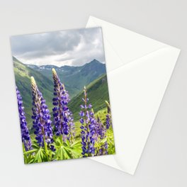 Mountain Lavender   Oil Painting Stationery Cards