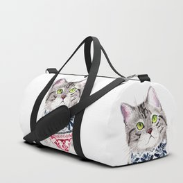 The Cat with Lovely Bandana Duffle Bag