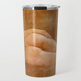 Julie Darling 0853 Rustic - Nue Nude ~ Vintage Art  ~ Bodyscape of a Woman Travel Mug