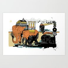 Oiliphants Art Print