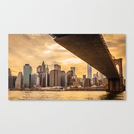 New York city skyline at sunset Canvas Print
