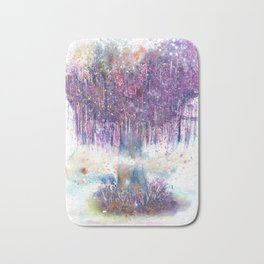 Mystical Tree Illustration Bath Mat