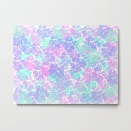 Soft Painterly Fluffy Pastel Abstract Metal Print