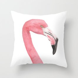 American Flamingo Throw Pillow