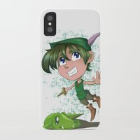 peter pan iPhone & iPod Cases featuring Peter Pan by EY Cartoons