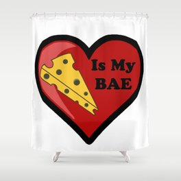 Cheese Is My BAE Shower Curtain