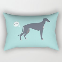 Greyhound farting dog cute funny dog gifts pure breed dogs Rectangular Pillow
