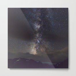 Watercolor Nightscape Milky Way Trail Ridge Road, Rocky Mountain National Park, CO Metal Print