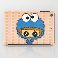 cookie monster iPad Cases featuring Cookie Monster Boy  by aldarwish