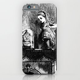 Alice climbing into the Looking Glass Land- John Tenniel iPhone Case