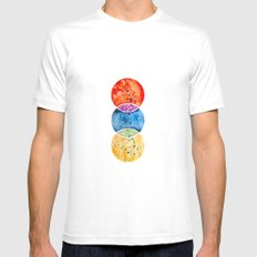 RYB color model White Mens Fitted Tee MEDIUM
