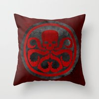 hydra Throw Pillows featuring Captain Hydra by Some_Designs