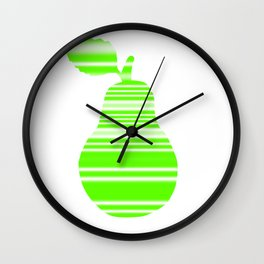 Light Green Pear Wall Clock