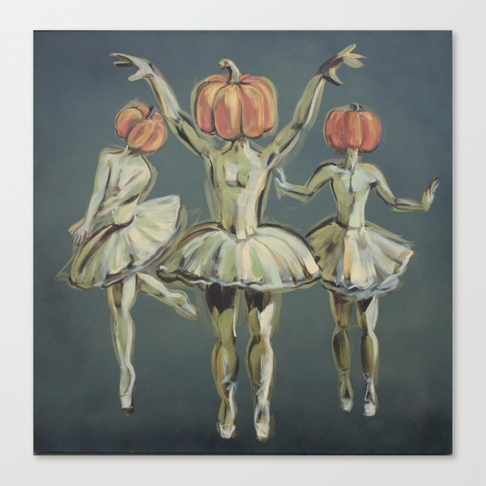 Pumpkin Bunheads Canvas Print