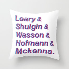 Godfathers of Psychedelia Throw Pillow