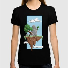 Pixel Landscape : Flying Island T-shirt