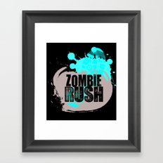 Zombie Rush - 2012 Framed Art Print