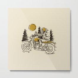 Classic Biker Metal Print