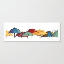 Umbrellas - Archie of Outlandish Canvas Print