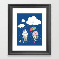 Cloudy With A Chance of Sprinkles Framed Art Print