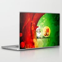 merry christmas Laptop & iPad Skins featuring Merry christmas by nicky2342