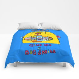 a big lovely smile Comforters