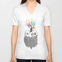 tree of life V-neck T-shirts featuring Tree Of Life by Heiko Windisch
