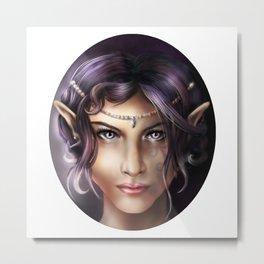 Elven Face Metal Print