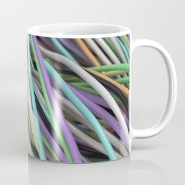 Twisted colorful wires Coffee Mug