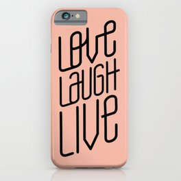 Peach Love L L iPhone Case