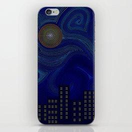 Blue Van Gogh Inspired Dark Night City Skyline iPhone Skin