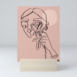 she who walks in the moonlight Mini Art Print