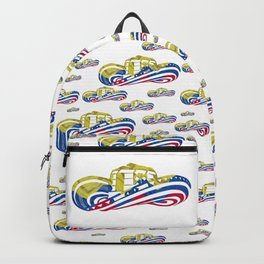 Colombian Sombrero Vueltiao in Colombian Flag Colors Backpack