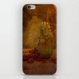 Disassembled pumpkin iPhone Skin