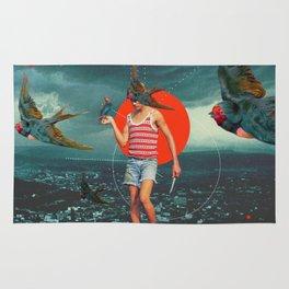 The Boy and the Birds Rug