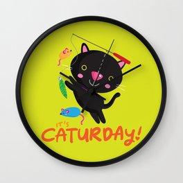 Caturday Series: Kimchi Wall Clock