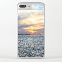 Sunset at Long Beach Island Clear iPhone Case