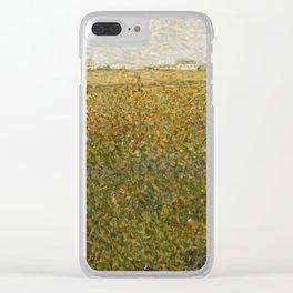 """Georges Seurat """"La Luzerne, Saint-Denis"""" Clear iPhone Case"""