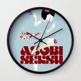 Asobi Seksu Tour Poster Wall Clock