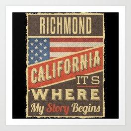 Richmond California Art Print