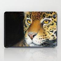 jaguar iPad Cases featuring Jaguar by Claudia Hahn