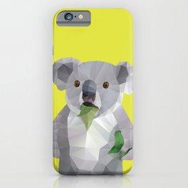 Koala with Koalafication Polygon Art iPhone Case