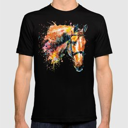 Colorful Horse Head T-shirt
